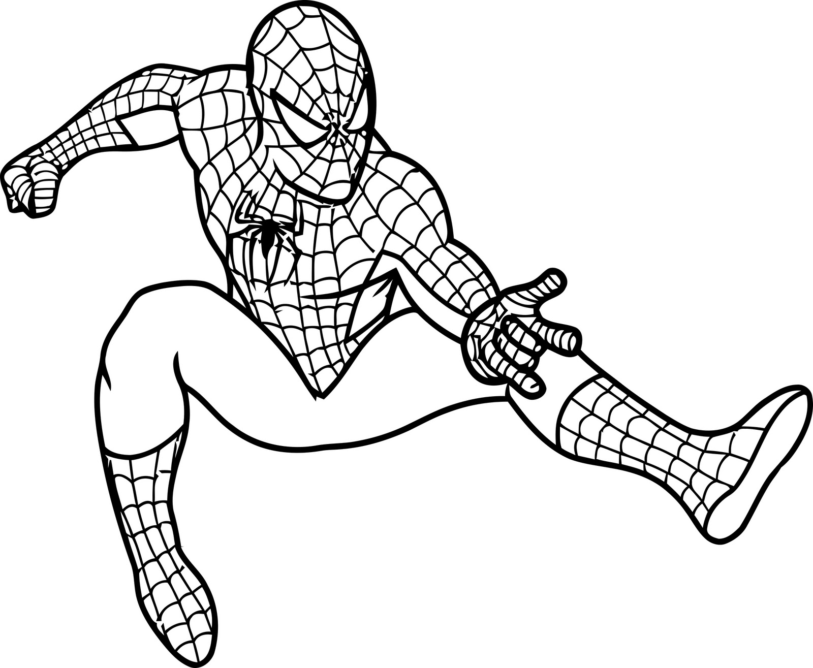 7 Images of Free Printable Spider-Man Coloring Pages