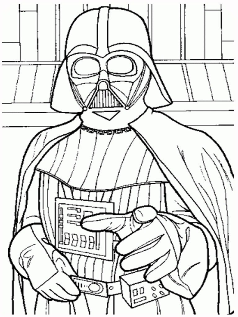 6 Images of Star Wars Printable Coloring Pages