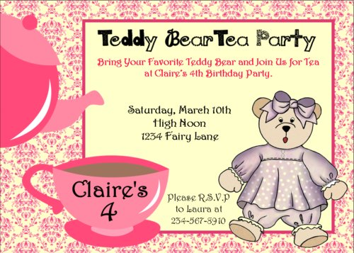 5 Images of Printable Tea Party Picnic Party