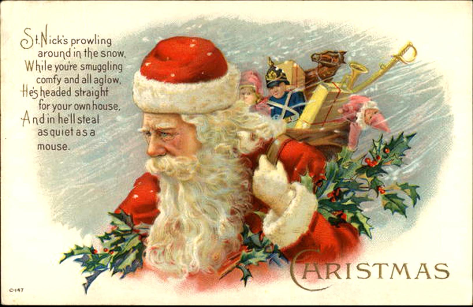Vintage Christmas Card Sayings