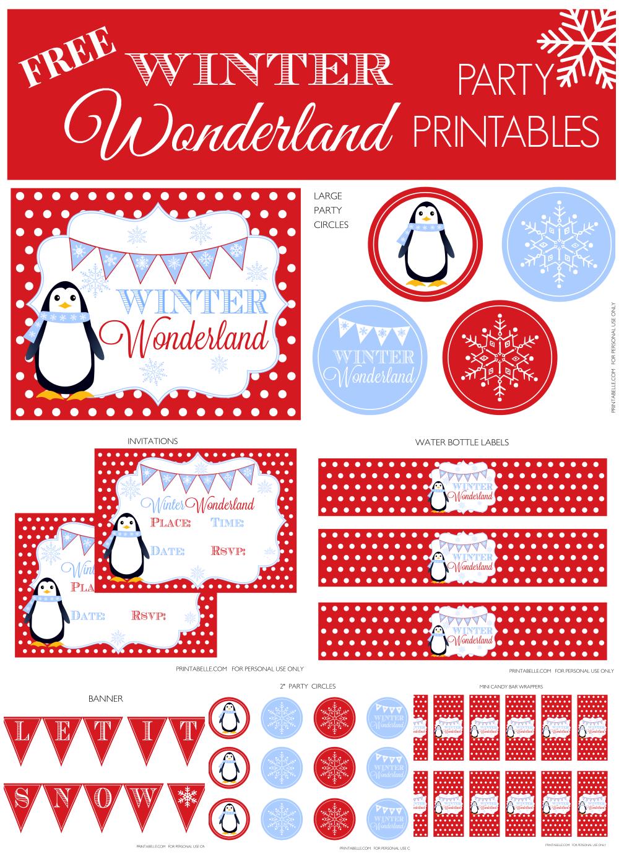 5 Images of Winter Wonderland Free Printables