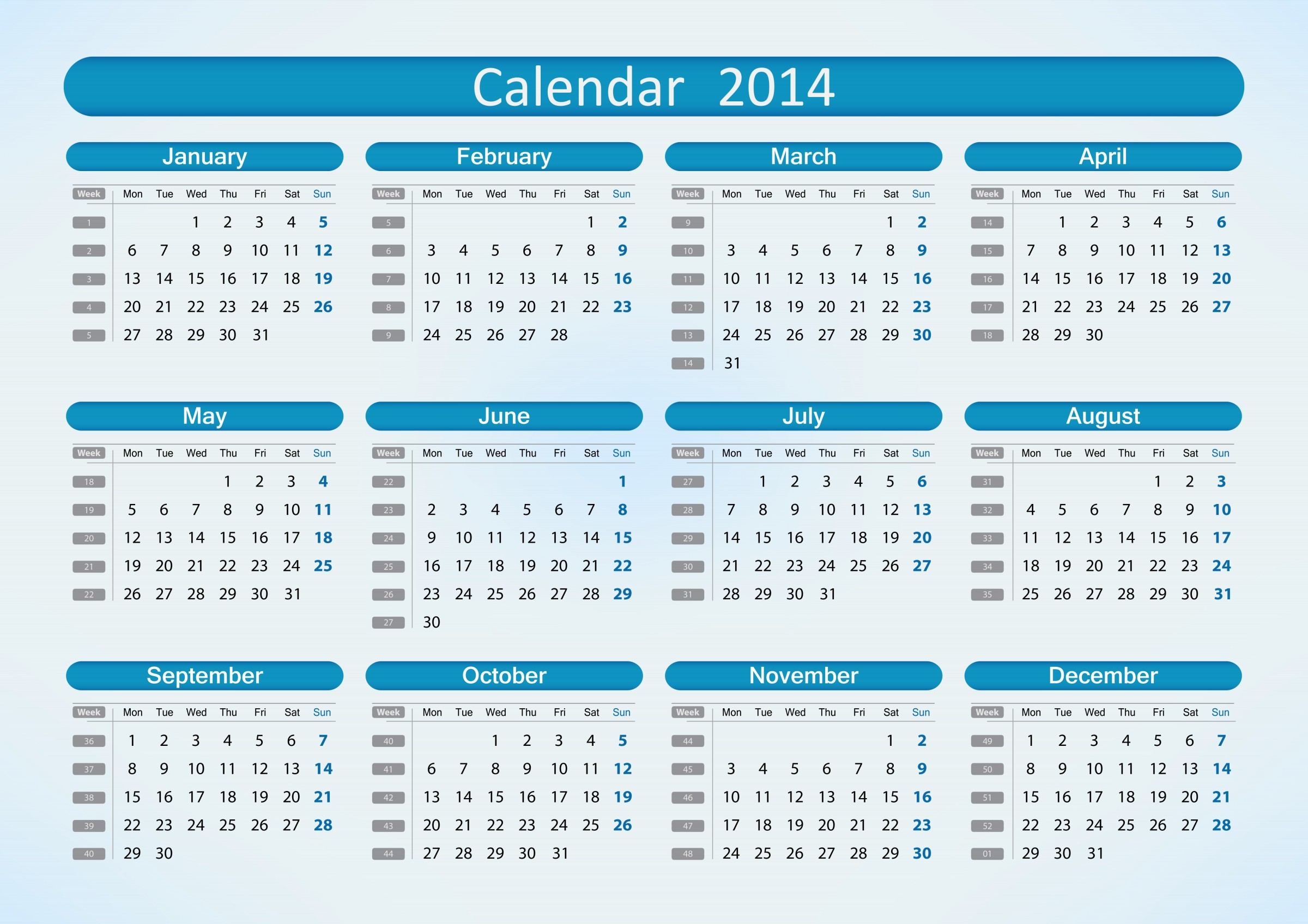 8 Images of Printable 2014 Calendar With Holidays