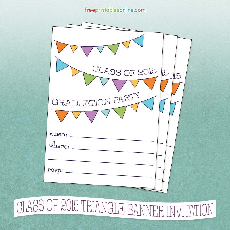 9 Images of Free Printable Invitations Class Of 2015