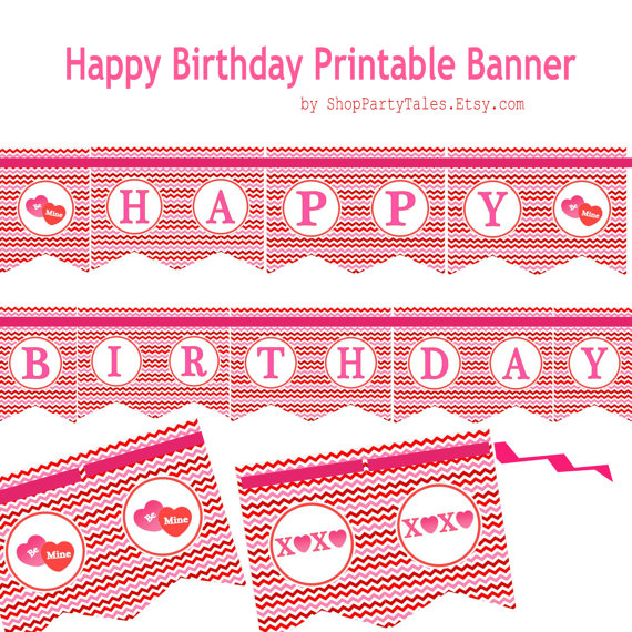 7 Best Images of Happy Valentine's Day Printable Banner ... Happy Valentines Day Banner Printable
