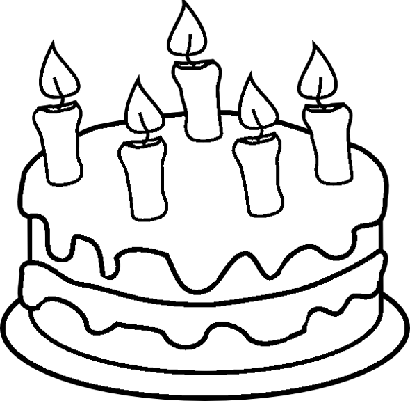 5 Images of Birthday Cake Printable Coloring Pages