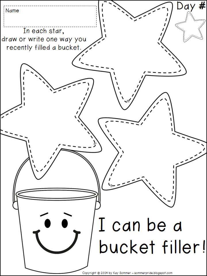 5 Images of Bucket Filler Printables