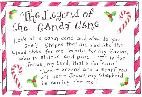 8 Images of Candy Cane Legend Printable