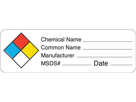 4 Images of Printable Chemical Labels