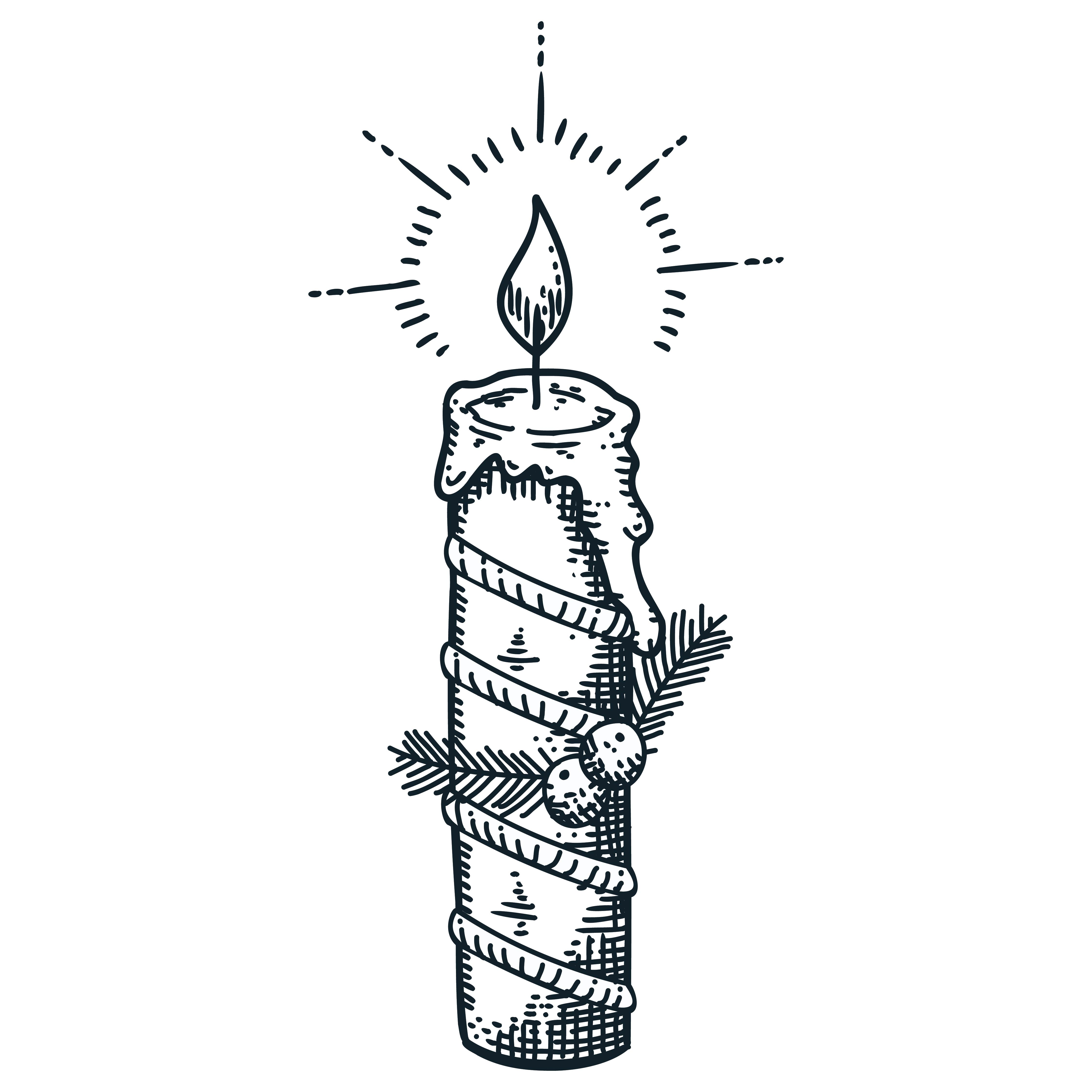 4 Images of Christmas Candle Template Printable