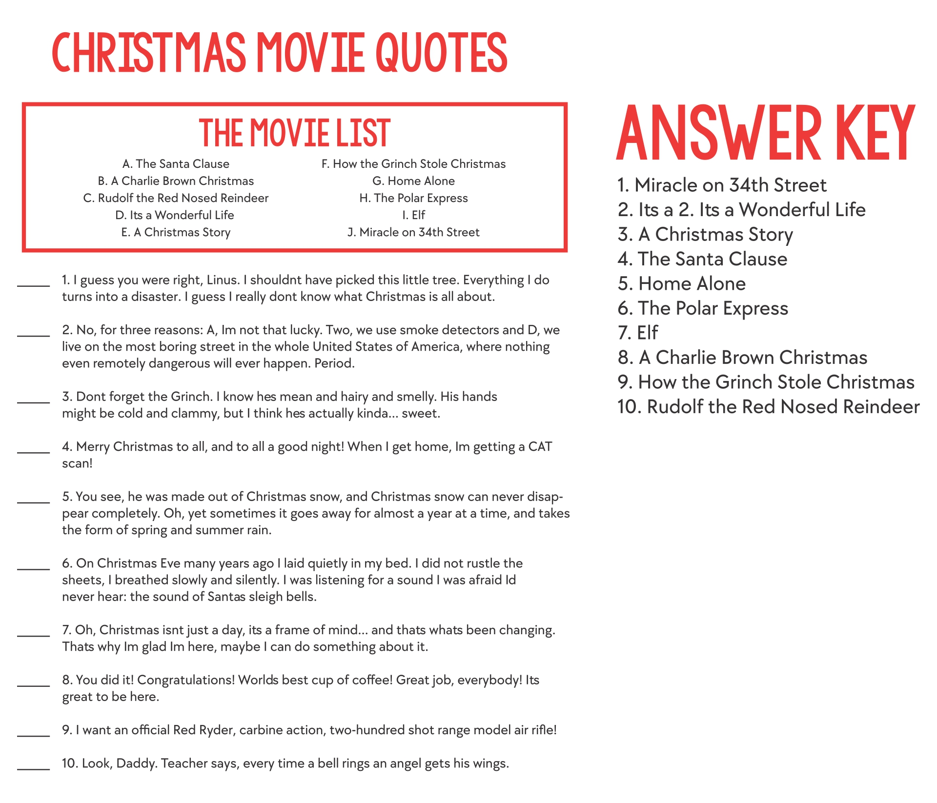 5 Best Images of Printable Christmas Carol Trivia - Printable Christmas Song Trivia, Free