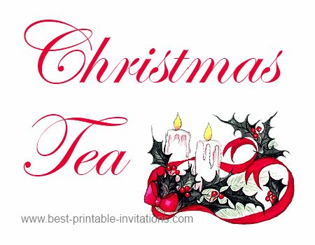 8 Images of Free Printable Christmas Tea Party