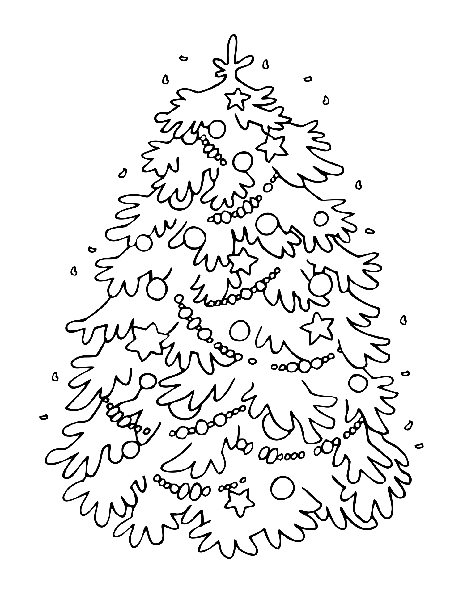 Coloring Christmas Tree Clip Art