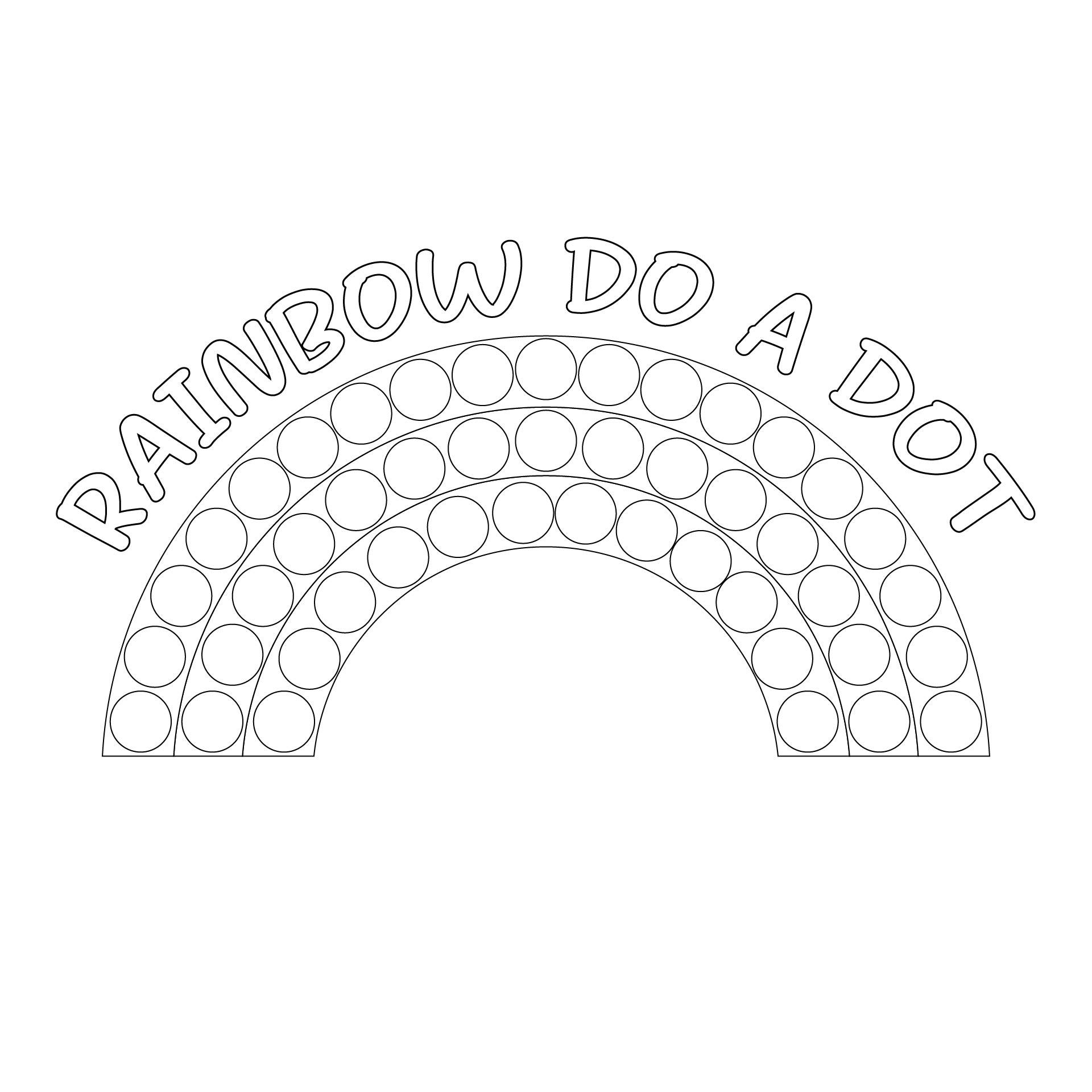 Do a Dot Rainbow Printable