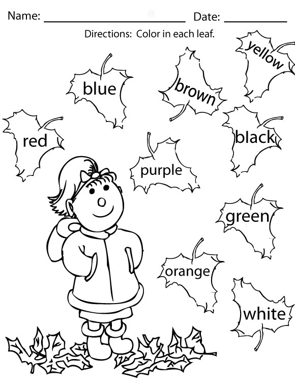 Number Names Worksheets activity worksheets for preschoolers – Activity Worksheets for Kindergarten