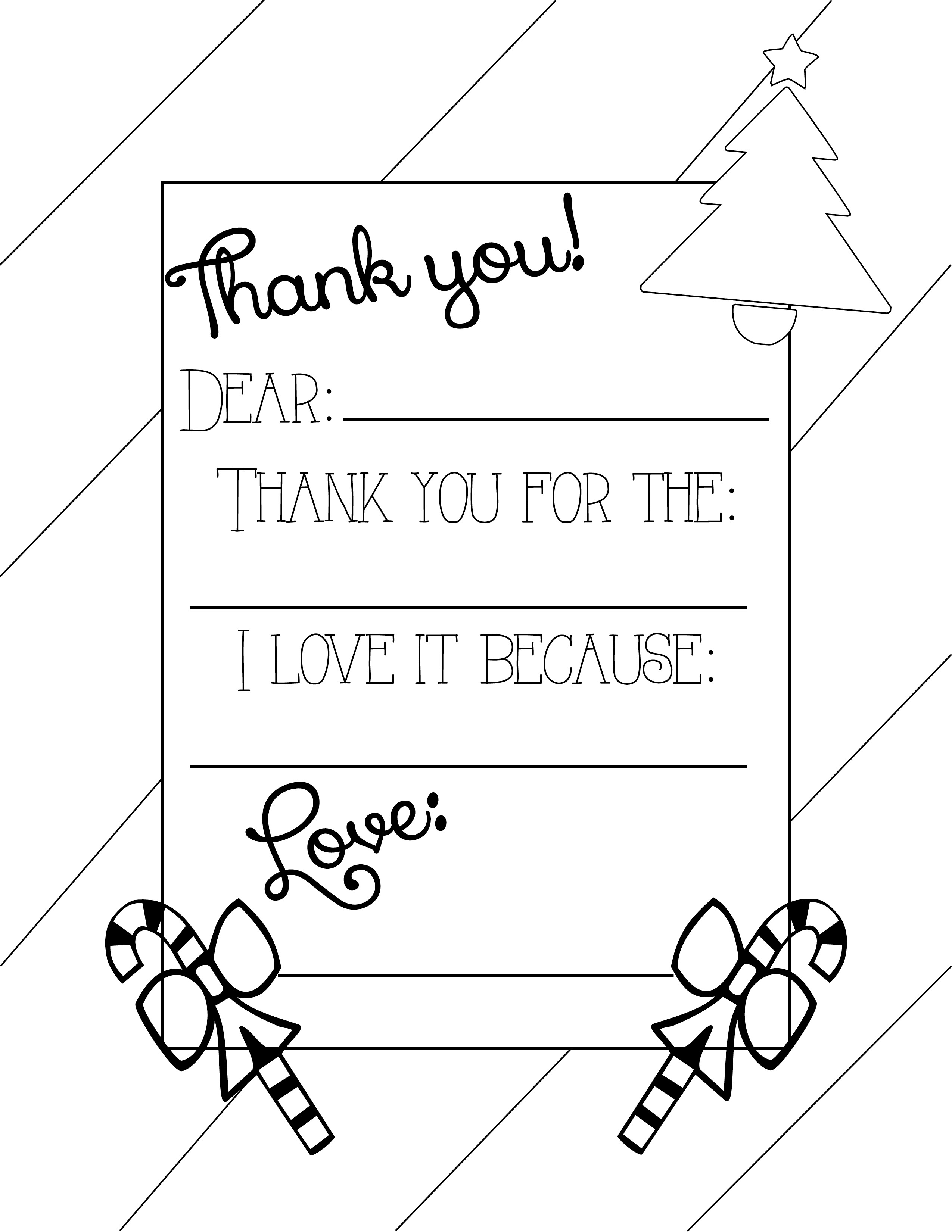 4 Images of Free Printable Coloring Thank You Cards
