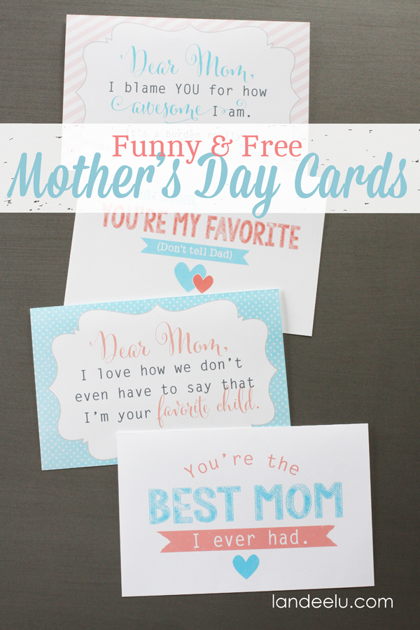 4 Images of Funny Mother's Day Cards Printable