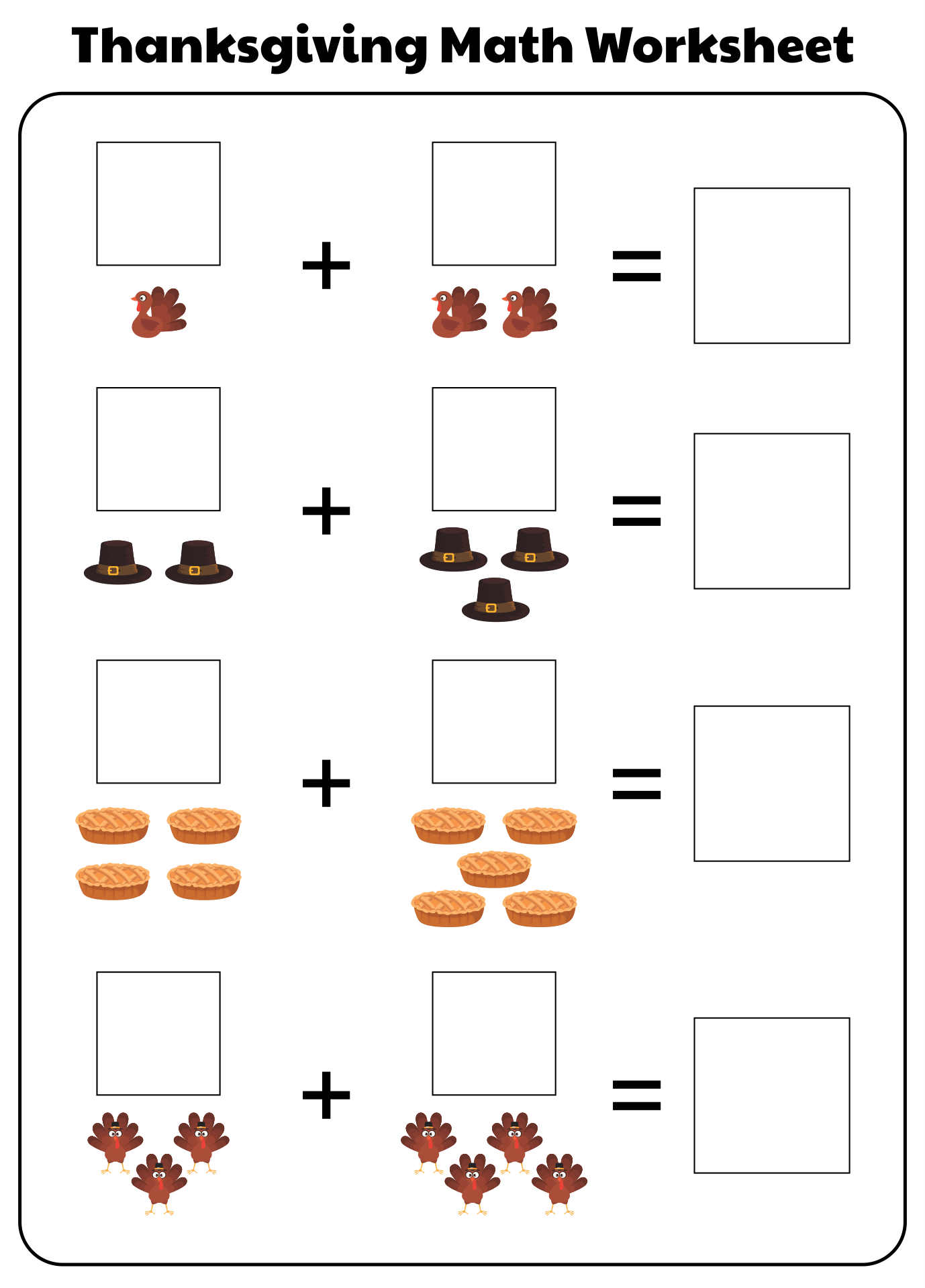 8 Images of Kindergarten Thanksgiving Printables