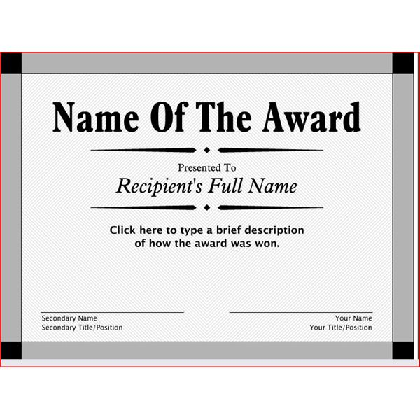 7 Images of Customized Free Printable Awards Certificates