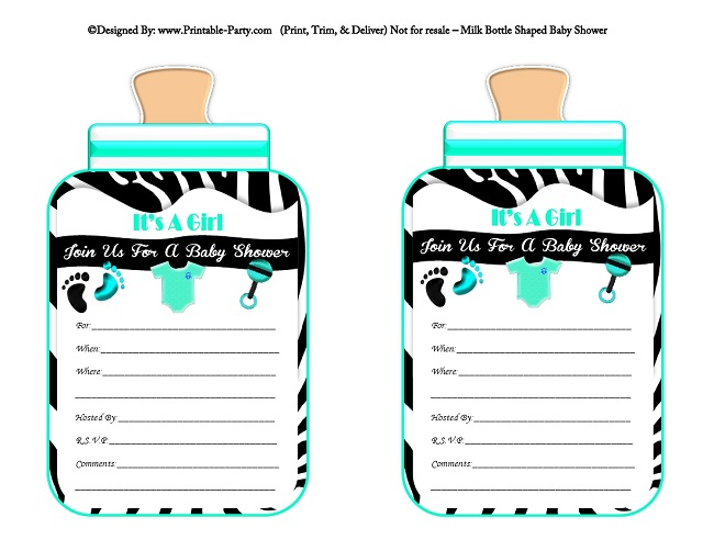 6 Images of Printable Baby Shower Bottle