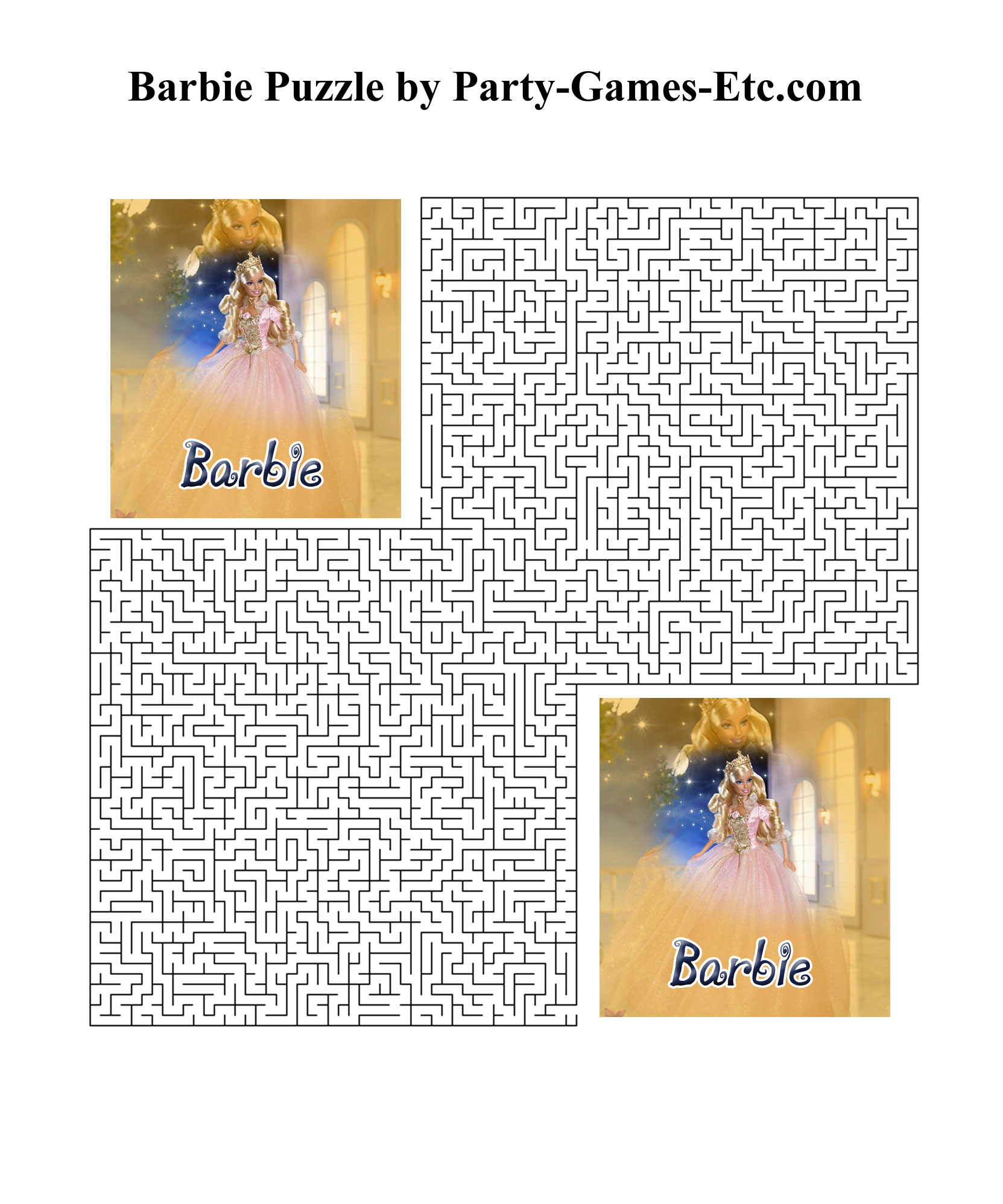6 Images of Printable Barbie Games