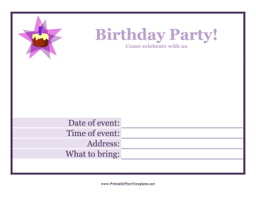 4 Images of Free Printable Party Flyers Templates