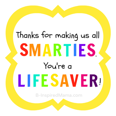 4 Images of Printable Teacher Appreciation Lifesaver