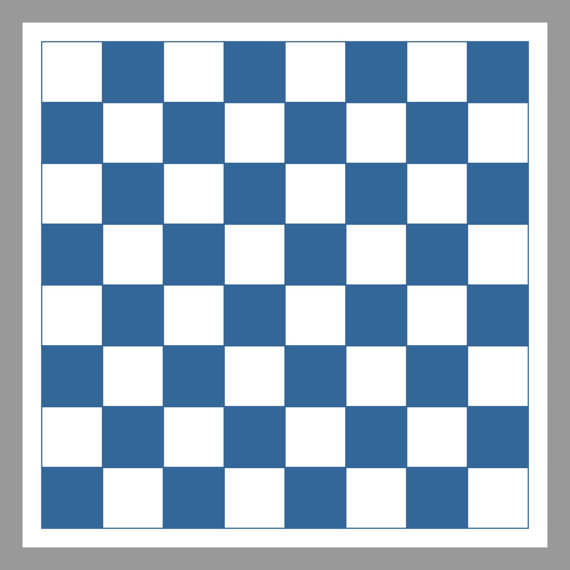 Printable Checkers Board Game