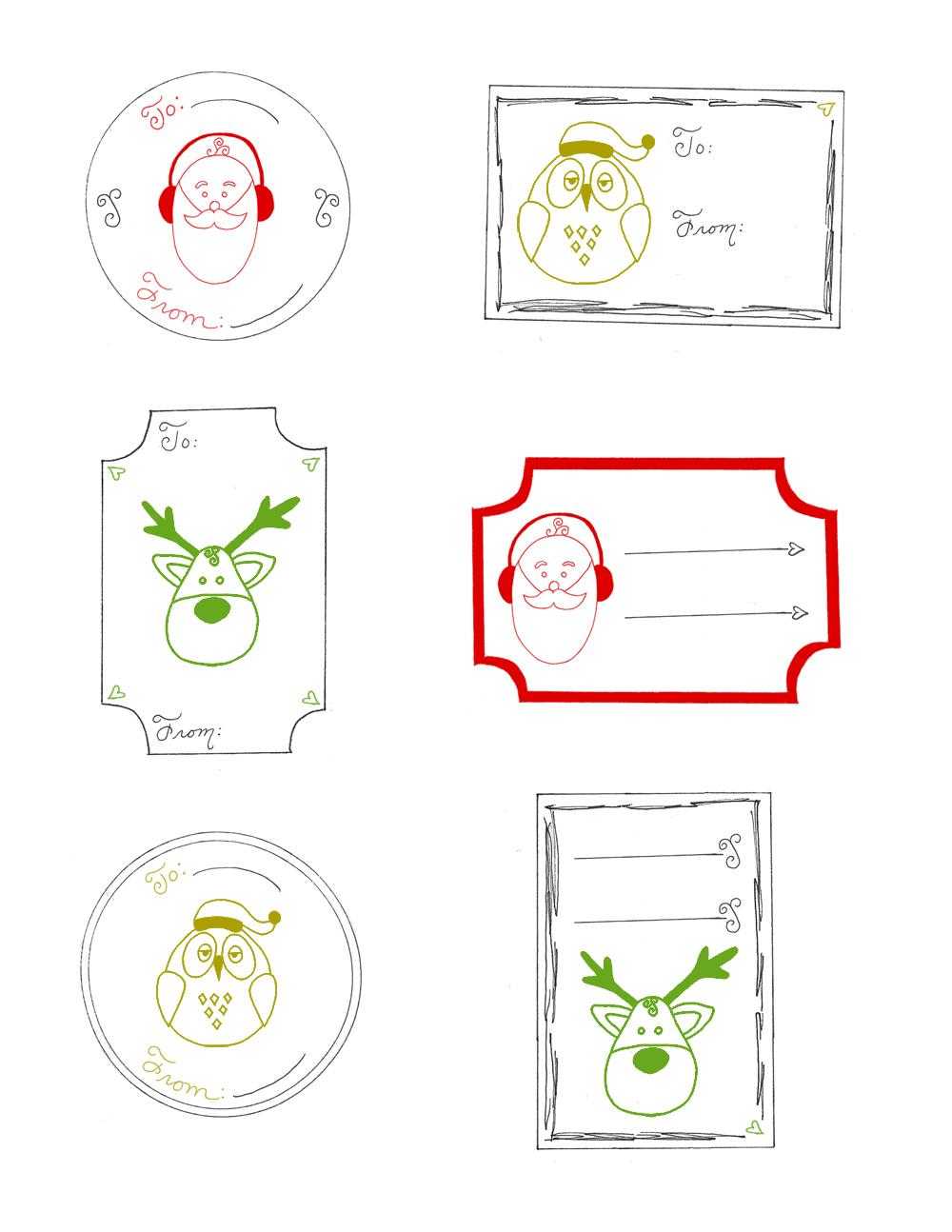 5 Images of Printable Christmas Tags To From