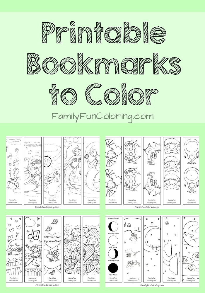 7 Images of Printable Reading Bookmarks To Color