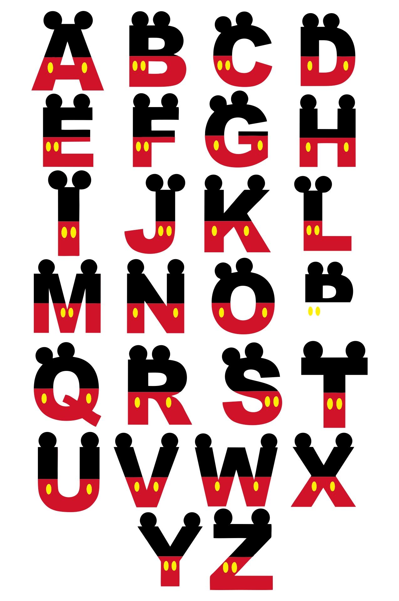 Printable Disney Letters Alphabet