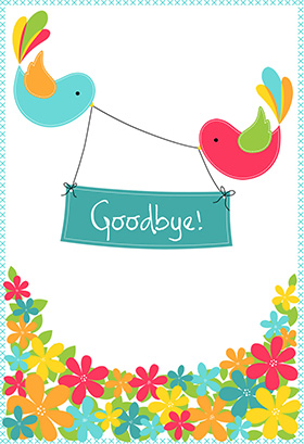 8 Images of Printable Goodbye Cards