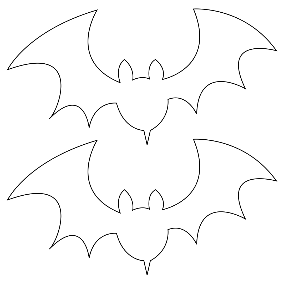 Printable Halloween Bat Template