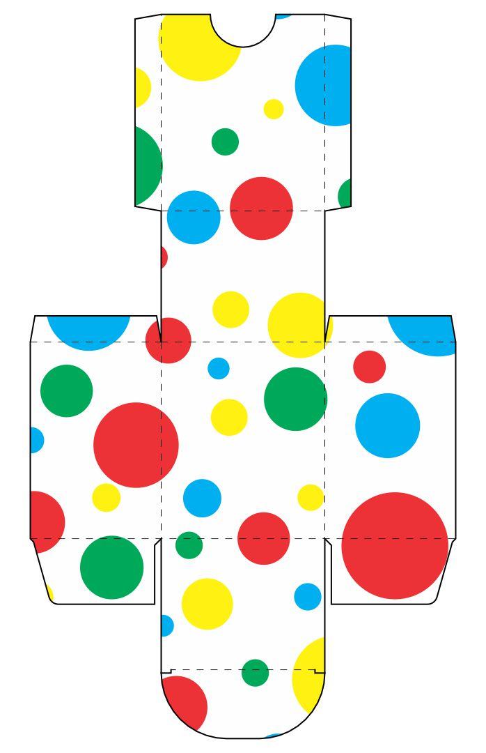 Printable Polka Dot Birthday Cake Box