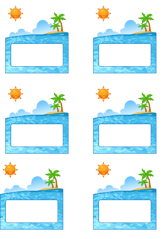 4 Images of Free Printable Pool Party Tags