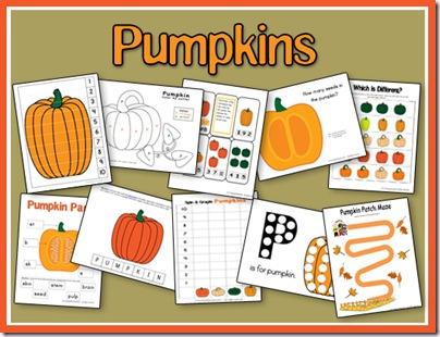 6 Images of Pumpkin Preschool Printables