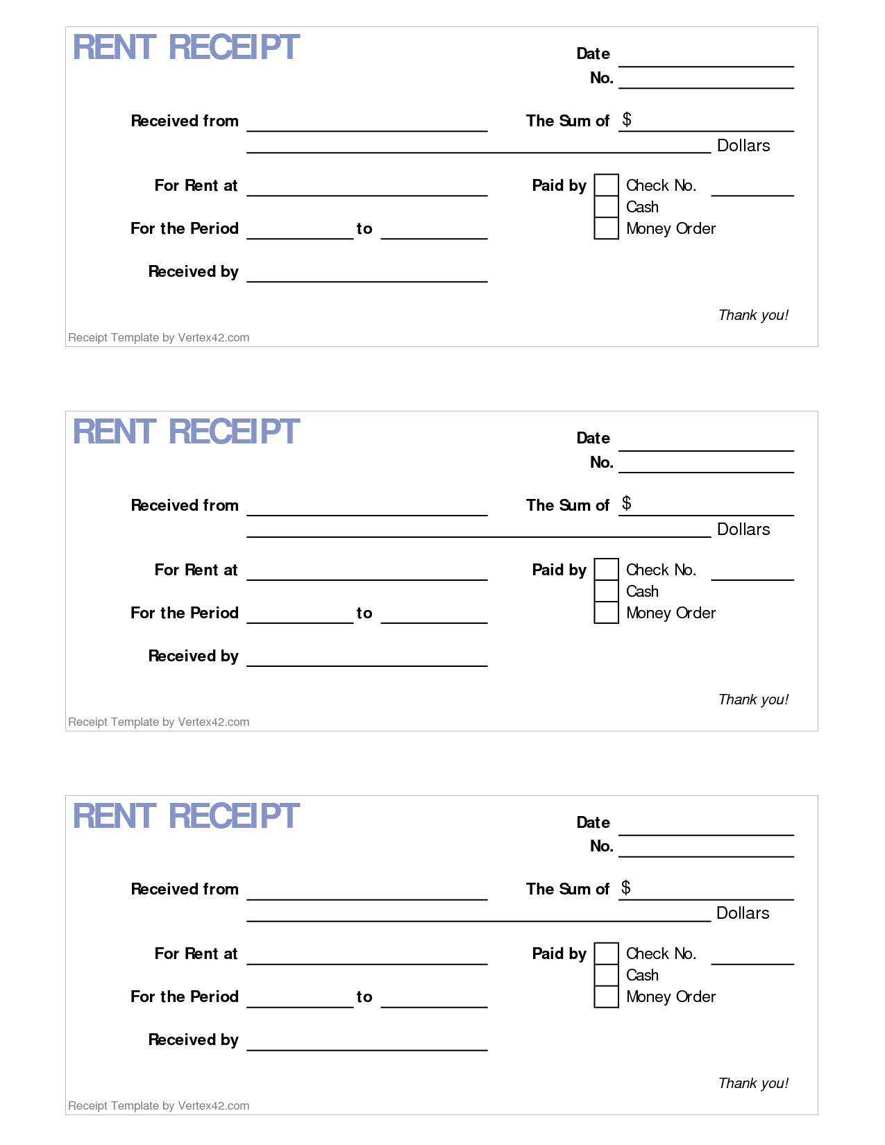 free rent receipt template - 6 best images of printable rent receipt template free