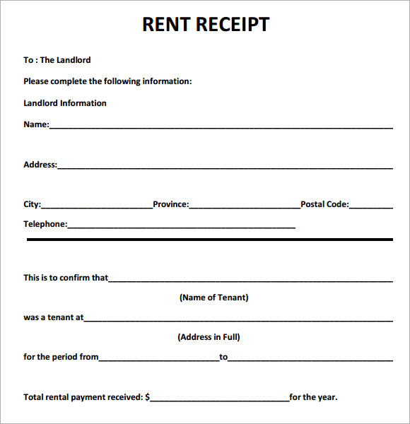 6 best images of printable rent receipt template free printable rent receipts pdf free. Black Bedroom Furniture Sets. Home Design Ideas