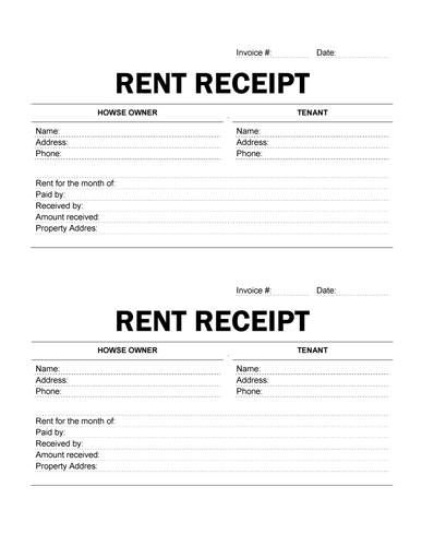 6 Best Images of Printable Rent Receipt Template - Free Printable Rent Receipts PDF, Free ...