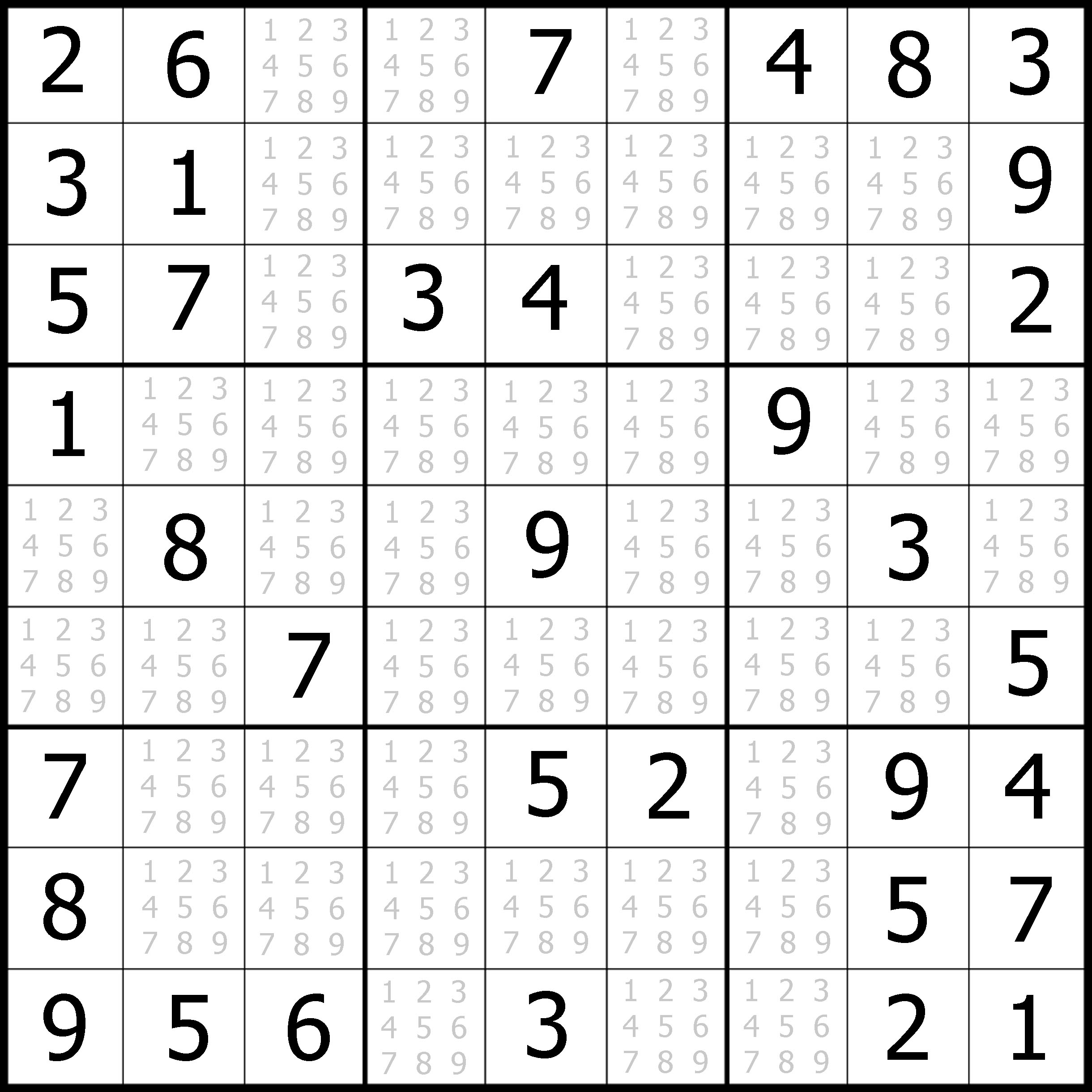 5 Images of Free Printable Sudoku