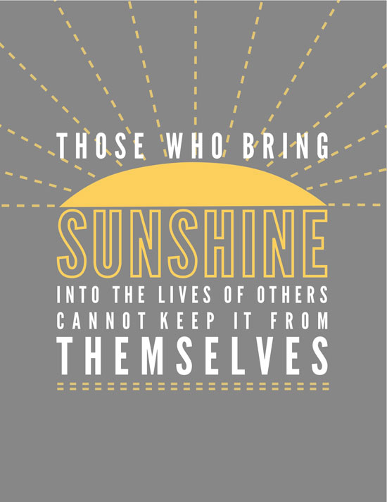 Free Printable Sunshine Quote