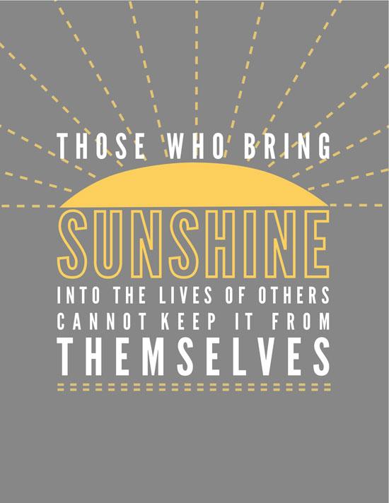 Free Printable Sunshine Quote