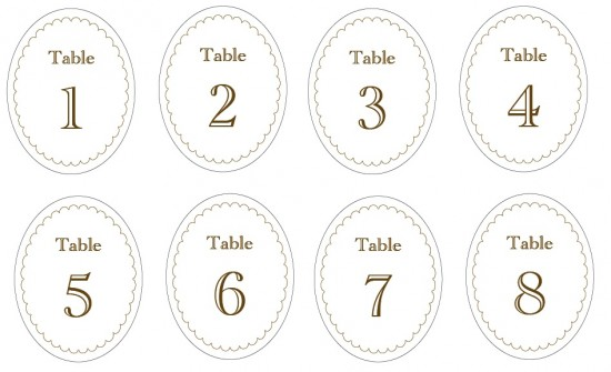 7 Images of Printable Number Labels