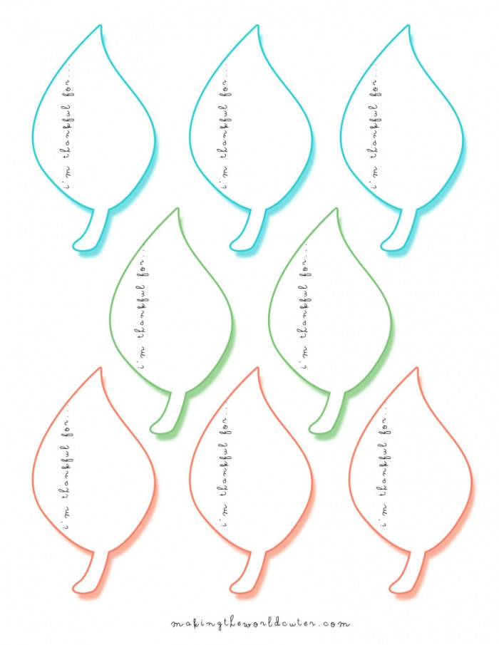 7 Images of I AM Thankful For Printable Leaves