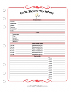 Worksheets Free Printable Wedding Planner Worksheets 9 best images of free printable wedding planning worksheets planner worksheets