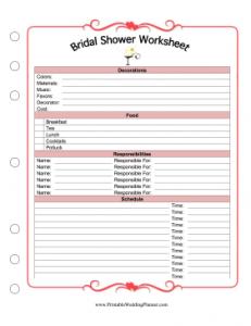 Worksheets Free Printable Wedding Planner Worksheets 9 best images of free printable wedding planning worksheets planner worksheets