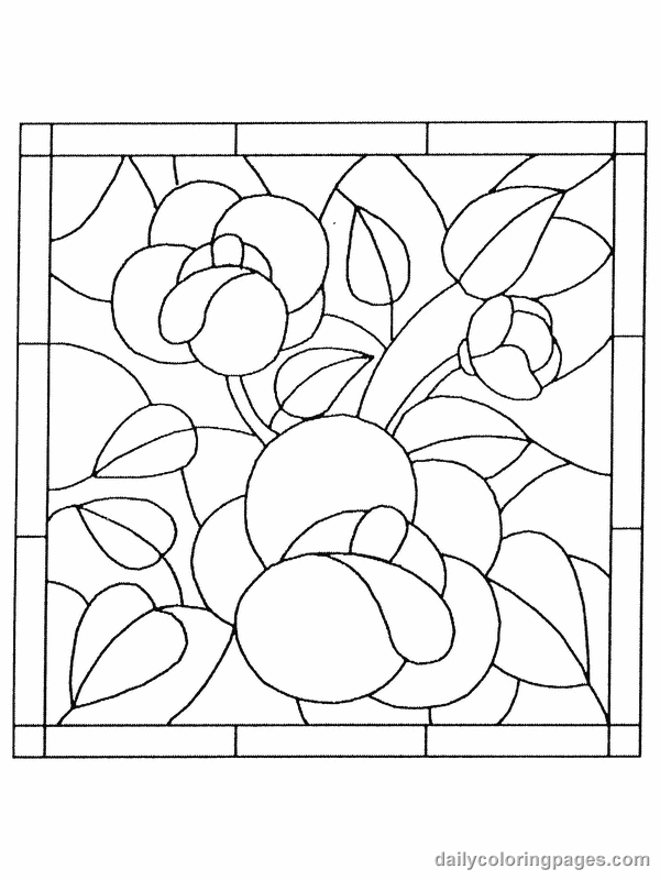 6 Images of Stained Glass Coloring Pages Printable