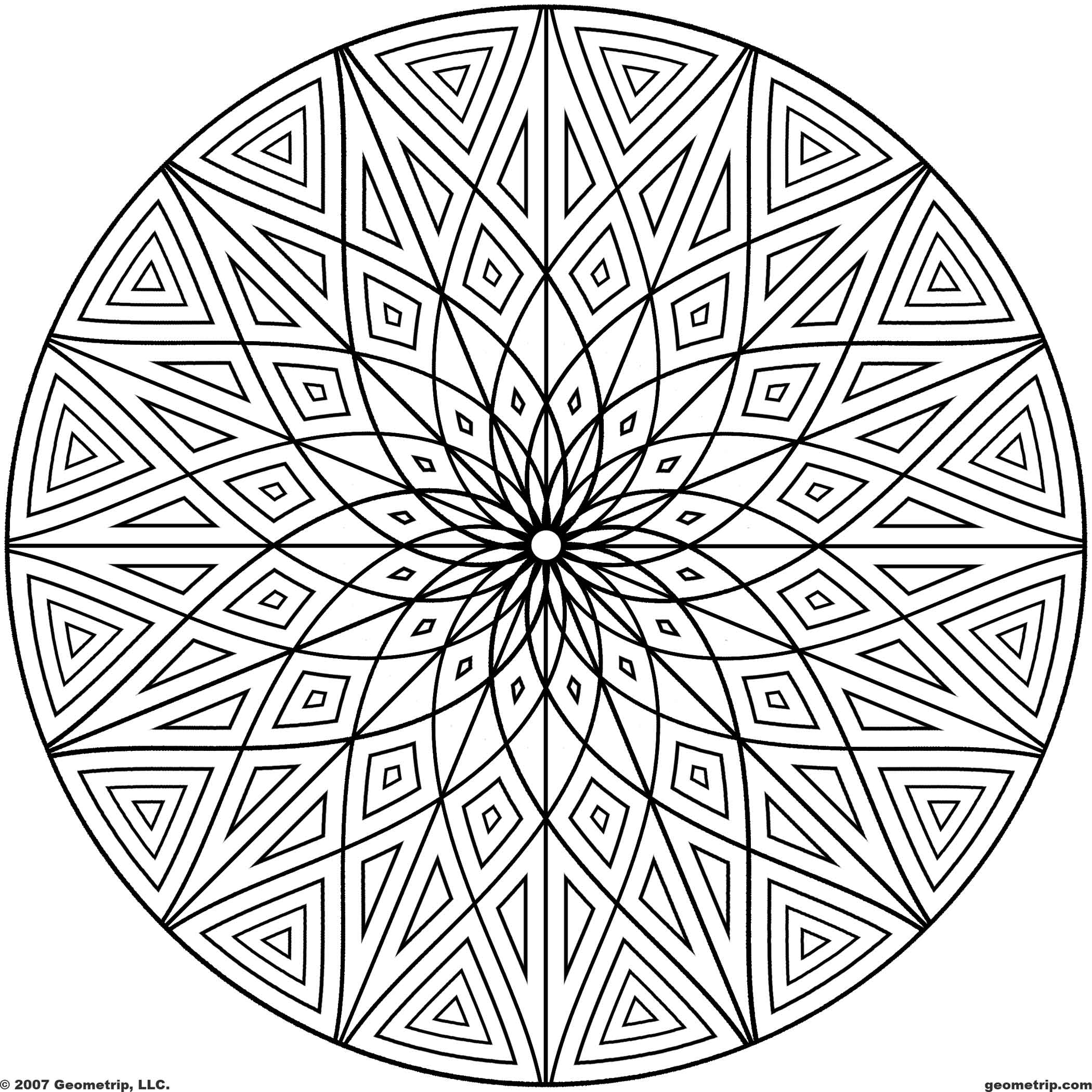 5 Best Images Of Printable Patterns Coloring Pages - Geometric
