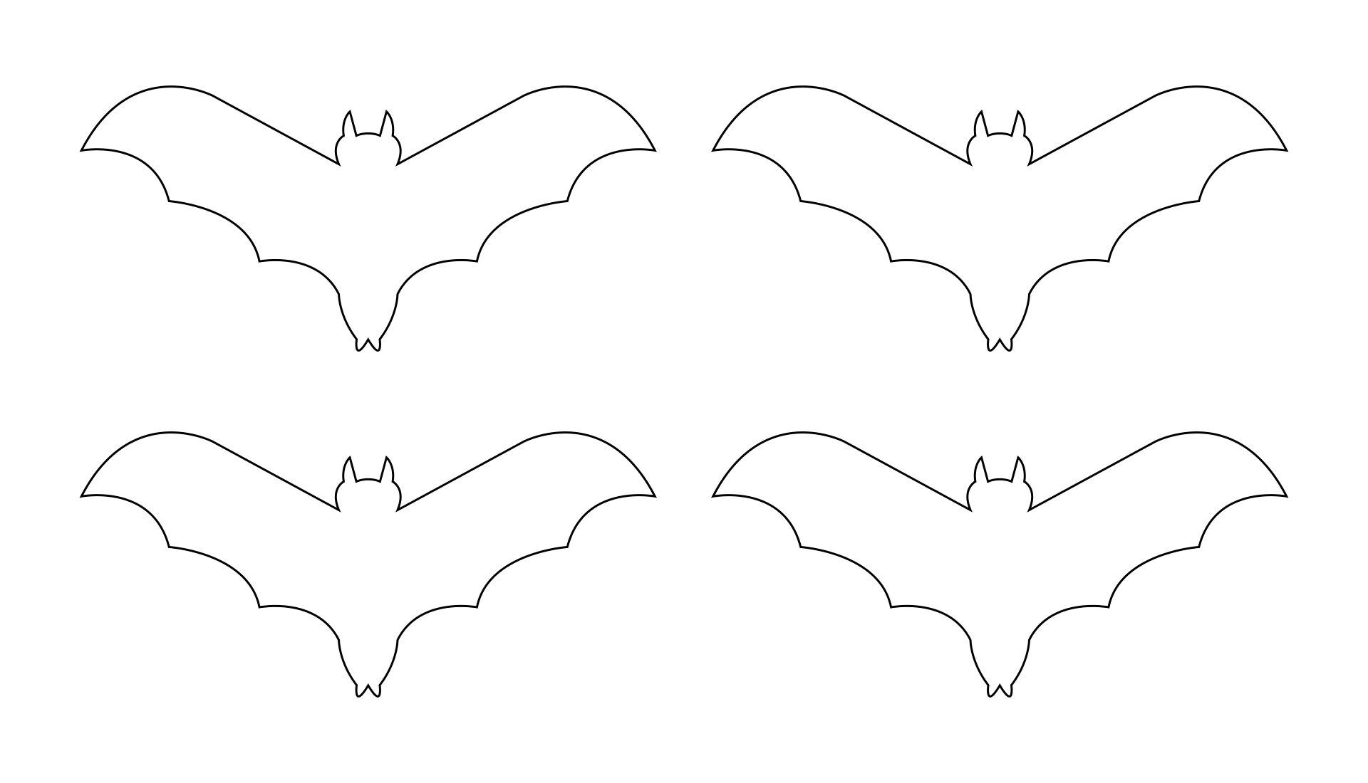 5 Images of Bat Pattern Printable