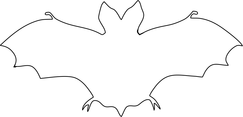Halloween Bat Template to Print