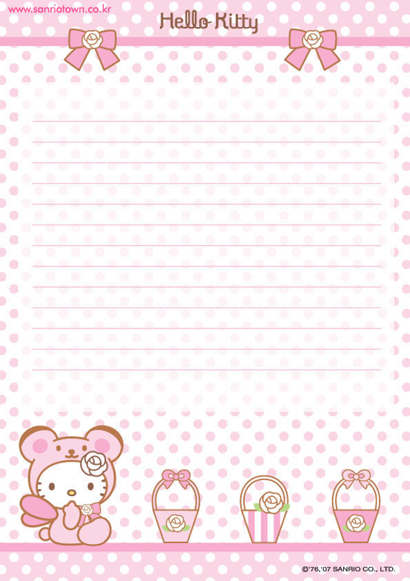 Hello Kitty Stationary Printable Free Papers